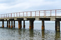 Free Deserted Old Bridge. Rusty And Unusable. Ferroconcrete Construct Stock Image - 28782921