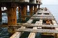 Free Deserted Old Bridge Floor. Rusty And Unusable. Royalty Free Stock Photos - 28782998