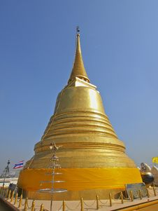 Bright Of Golden Pagoda Royalty Free Stock Photo