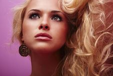 Free Beautiful Blonde Young Woman Stock Photography - 28781902