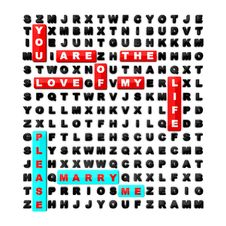 Word Search Puzzle Concept For A Wedding Stock Image