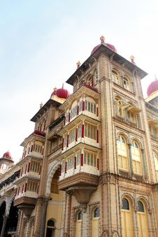 Free Part Of Mysore Palace Building, Karnataka, India Royalty Free Stock Photos - 28782868