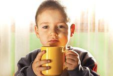 Free Child Drinking Tea Stock Photos - 28784333