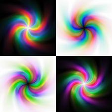 Free Rainbow Swirl Backgrounds Royalty Free Stock Photos - 28785358