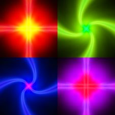 Free Set Of Neon Glowing Backgrounds Stock Photo - 28785380