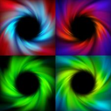 Free Swirl Vector Backgrounds With Black Hole Royalty Free Stock Photos - 28785428