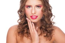Free Woman With Bright Makeup Stock Photo - 28786060
