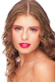Free Woman With Bright Makeup Royalty Free Stock Photos - 28786078