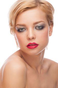 Free Woman With Stylish Makeup Stock Photos - 28786093