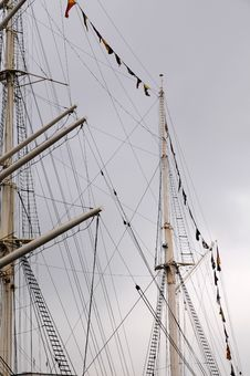 Free Mast Of A Sailing - Port Hamburg Stock Photos - 28789453