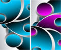 Free Two Blue Magenta Grey Abstract Backgrounds Stock Images - 28798044
