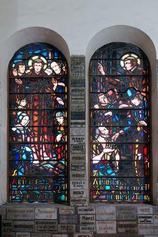 Free Catholic Stained Glass Window. Church. Royalty Free Stock Photos - 28794788