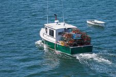 Free Lobster Boat At Sea Royalty Free Stock Image - 28797866