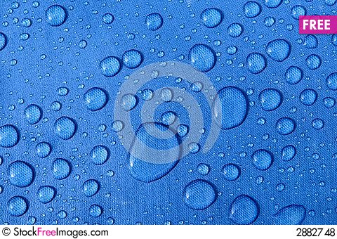 Free Blue Drops Royalty Free Stock Photos - 2882748