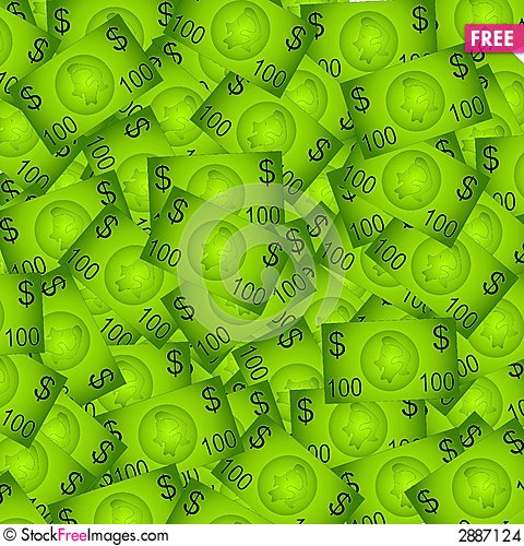 Free 100 Dollar Bills Background Stock Images - 2887124