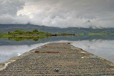 Jetty On Loch Torridon Stock Photography