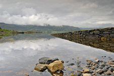 Jetty On Loch Torridon Stock Photo