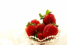 Free Strawberries On Satin Royalty Free Stock Image - 2881666