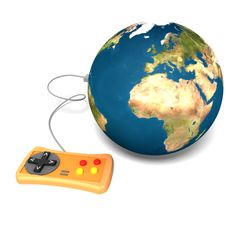 Free Isolated Earth With Gamepad Royalty Free Stock Photography - 2881837