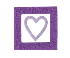 Free Purple Frame And Heart Royalty Free Stock Photography - 2883127