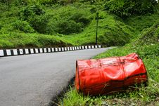 Free Oil Barrel At Roadside. Stock Image - 2884291