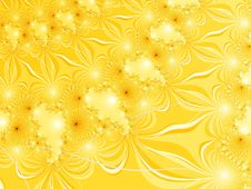 Free Yellow Fractal Royalty Free Stock Images - 2884469