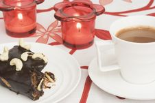 Free Brownie And Chocolate Cappucin Stock Photo - 2884760