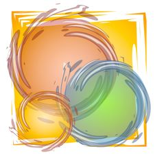 Free Paint Brush Circles Tile Royalty Free Stock Images - 2887499