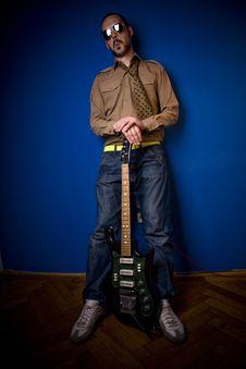 Free Guitar Player Posing Stock Images - 2887574