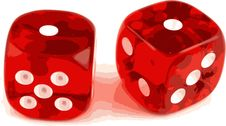 2 Dice Showing 1 And 1 Stock Images