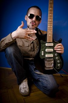 Free Guitarist With Attitude Stock Photography - 2887922
