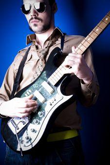 Free Guitarist Portrait Stock Photos - 2888133