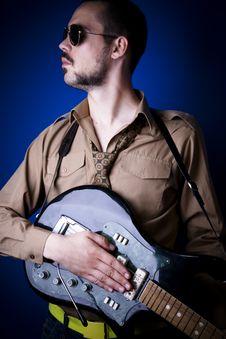Free Guitarist Portrait Stock Image - 2888141