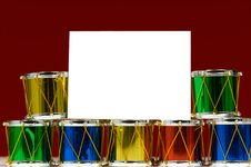 Christmas Decoration Notecard Stock Images
