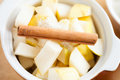 Free Slices Of Pear And Cinnamon In A Pot Stock Photos - 28803633