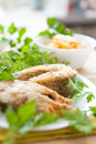 Free Two Pieces Of Fish And Vegetables In A Bowl Royalty Free Stock Photography - 28803647