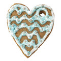 Free Gingerbread Cookie In The Form Of Heart Royalty Free Stock Photos - 28805308