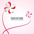 Free Vector Background With Flowers. Scarlet Heart Stock Images - 28805814