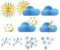 Free Weather Icons Royalty Free Stock Photos - 28807518