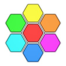 Free Multicolored Hexagons Stock Photos - 28801073