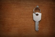 Key Hung On Wood Walls Stock Images
