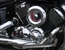 Motorcycle Chrome Engine Stock Images