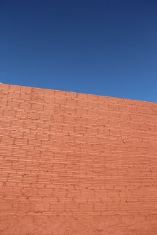 Free Clear Blue Sky Brick Wall Royalty Free Stock Photo - 28807035
