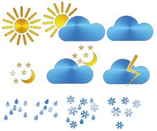 Free Weather Icons Royalty Free Stock Photos - 28807518