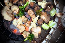 Free Grilled Veggies Stock Photography - 28809382