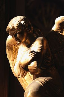Figure Of A Praying Angel Stock Photography