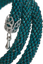 Free Stylish Hand-worked Bracelet From Color Beads. Stock Photo - 28812950