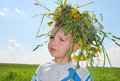 Free Boy With Wreath Stock Images - 28814364