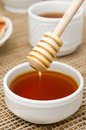 Free Bowl Of Honey With Wooden Dipper Closeup Royalty Free Stock Images - 28818319