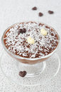 Free Chocolate Mousse With Chocolate Hearts Decorated With Coconut Royalty Free Stock Images - 28818339